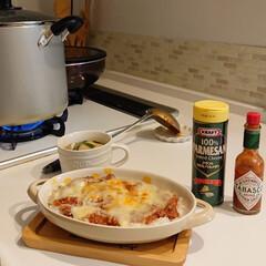 手作り/ミートソースドリア/おうちご飯 ミートソースを作りました☺️娘はミートソ…