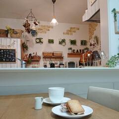 おやつ/レーズンウィッチ/カフェ風インテリア 昨日買ってきた小川軒のレーズンウィッチ頂…
