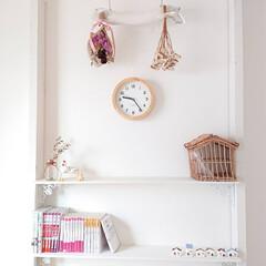 時間合わせ不要 電波 壁掛け時計 掛け時計 電波時計 掛時計 時計 おしゃれ 北欧 壁掛け 木製 かけ時計(掛け時計、壁掛け時計)を使ったクチコミ「小6娘ちゃんの部屋に新しく掛け時計を買い…」
