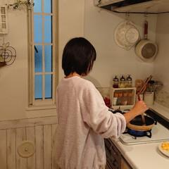 朝ごはん/娘の手料理/キッチン/わたしのごはん 娘小4が、私の朝ごはん作ってくれてます😭…(1枚目)
