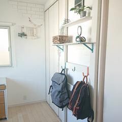 リュック/ガストンルーガ/ディアウォール/100均/DIY 大学息子君の部屋に作ったカバン掛け。 ま…