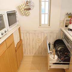 トースター オーブントースター おしゃれ 2枚 縦型 オリジナルレシピ付 コンパクト キッチン家電 プレゼント ラドンナ Toffy トフィ―オーブントースター | Toffy(トースター)を使ったクチコミ「フライパン収納の引き出しの中の隙間にニト…」