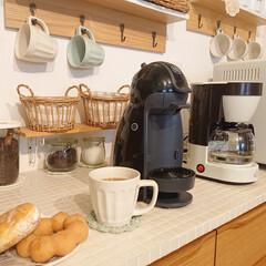 記念品・大量購入の見積歓迎向けToffy 4カップコーヒーメーカー アッシュホワイト 主婦/台所/調理に!(ジューサー、ミキサー、フードプロセッサー)を使ったクチコミ「昨日大学2年息子君が、ミスドのドーナツ🍩…」