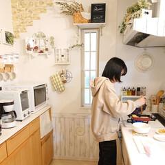 娘の手料理/リミアな暮らし/100均/DIY/キッチン 今日は小5娘ちゃんが夕飯を作ってくれます…