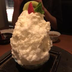 おすすめアイテム/至福のひととき しろくまかき氷‼️ 美味で凄ーくおいしか…
