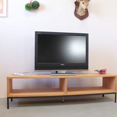 テレビボード/リビングボード/ナチュラル/アイアン/オーク アイアンとオークのかっこいいテレビボード…
