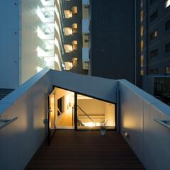 ルーフテラス/ルーフバルコニー/屋上/建築 蔵前の小さな家