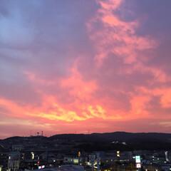 夕焼け/空 昨日の、夕方… 数分で、色んな変化…