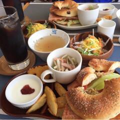 bagel&café/ランチ 久しぶりに、友達とランチに❗️ BLTラ…