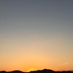 夕焼け 1週間の内、丸一日休みの土曜日… 久しぶ…