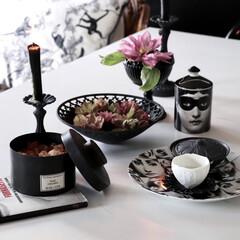 キャンドルのある暮らし/マドエレン/テーブルセッティング/テーブル/今日のコーディネート/ダイニング/... 今週のインテリア 黒を基調に楽しむ シュ…