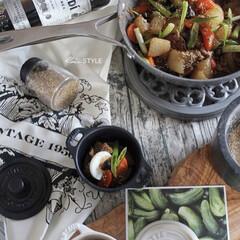 料理/おかず/大根の艶煮/フライパン料理/フライパン/zwilling/... フライパン調理 大根と根菜と豚肉で ささ…