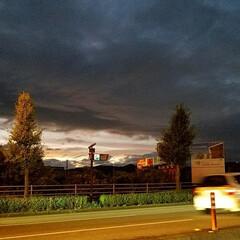 台風雲/夕焼け ➰🌀台風前日の夕焼け空  👀夕焼けが、台…
