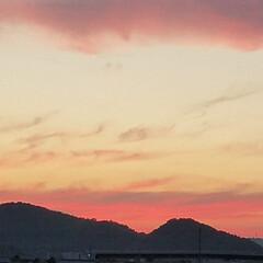 夕陽/夕焼け/梅雨 梅雨の合間の夕焼け