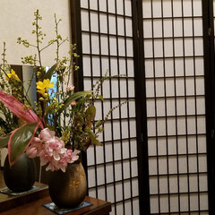 花好きな人と繋がりたい/華/玄関の花/LIMIAFESTA/暮らし 玄関の💐をUPし忘れてました(*´艸`*…