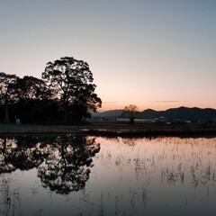 景色/夕焼け/台風の後の静けさ/おでかけ 台風が、去ったあと和な夕焼け🌆