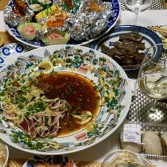 LIMIAごはんクラブ/LIMIAおでかけ部/フォロー大歓迎/わたしのごはん/おうちごはんクラブ/おでかけ/... 🍴 皿鉢料理 🌸春の魚、鰆のたたき 私の…(1枚目)
