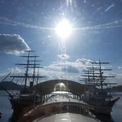 船/フォロー大歓迎/おでかけ/風景/おでかけワンショット/帆客船/... 鳴門渦潮帆客船🚢🌀  淡路島のスポットへ…