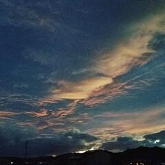 台風雲/台風 台風直前の今日の夕焼け🌆  今年は、たく…(2枚目)