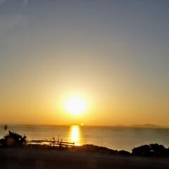 風景/おでかけ/旅/夕陽 瀬戸内の夕陽  とっても綺麗な景色でした…