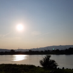 紅白の水引/紅白/水引/景色/夕焼け/夕陽 昨日の🌅と夕焼け🎵 とっても綺麗でしたよ…(1枚目)