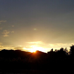 夕焼け/夕陽/夕暮れ/日暮れ/夕日/夕焼けスポット 🌄見とれるほどの夕焼けでした  (´ー`…(2枚目)