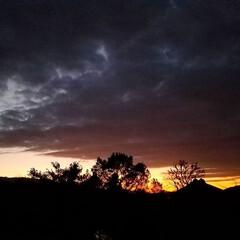 夕暮れ時の空/夕暮れ秋空/夕暮れ風景/夕暮れ/お気に入り/犬のいる暮らし/... 先日の ベランダから見た夕焼け~🌄   …(2枚目)