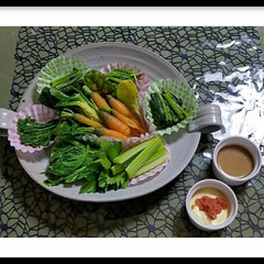 家庭菜園/グリーン/おうちごはん/無農薬/野菜/料理/...         『健康志向料理』副菜にど…