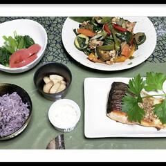 野菜/家庭菜園/グリーン/おうちごはん/住まい/フード/... 明日葉を料理しました🎵 今日の献立🍴 自…