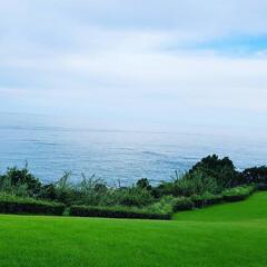 きらきら/水平線/空と海/緑と青/おでかけ 緑と青 夏の思い出。 とっても綺麗でしょ…