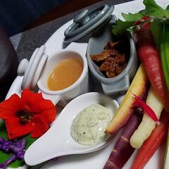 スティックサラダ/今夜の一品/自然/リサイクル品/リミアの冬暮らし/料理 🥗昨夜は、テレビを見ながらポリポリ😋📺 …