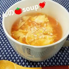 スープ/トマトスープ/食事情/カレンダー マロルパガッチャンの🍅soup👌〰️‼️…