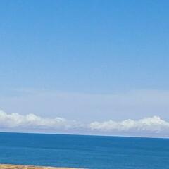 空と海/夏の思い出/海の入道雲 海と空 青い海と澄みきった空  ⛵夏の思…