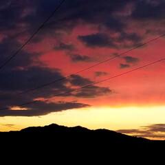 夕焼け/夕陽/夕暮れ/日暮れ/夕日/夕焼けスポット 🌄見とれるほどの夕焼けでした  (´ー`…(4枚目)