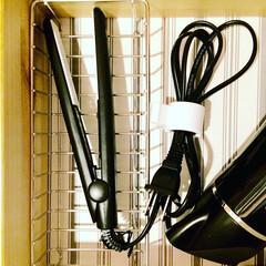 整理収納/代用/スポンジラック/ヘアアイロン収納/無印良品/収納 熱いヘアアイロンを無印良品のスポンジラッ…