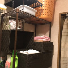 洗面所収納/洗面所/サニタリー収納/サニタリールーム/収納/100均/... 洗濯機のまわりを きれいにすっきり収納 …