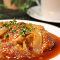 マイレシピ/料理 鶏肉のバーベキューソース煮込み