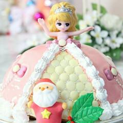 手作りケーキ/手作り/料理/リカちゃん/リカちゃんケーキ/ドールケーキ/... クリスマスに作ったリカちゃんケーキ
