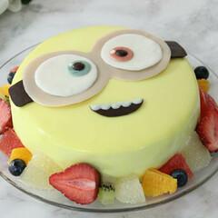 手作りケーキ/手作り/料理/ミニオン/ミニオンケーキ/誕生日/... 息子の誕生日に作ったミニオンケーキ