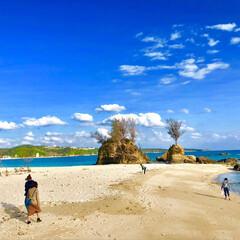 大好きな場所/豊かな自然/ヤドカリ/カニ/砂浜/海岸/... 沖縄綺麗だった〜  2枚目はカニが潜む穴…(1枚目)