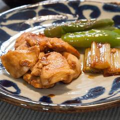 わたしのごはん/焼き鳥/料理/おうちごはん 串には刺してないけど、鶏胸肉の焼き鳥です…