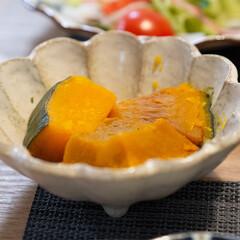 カネコ小兵製陶所 リンカ 16cmボウル(その他食器、カトラリー)を使ったクチコミ「レンチンでできる簡単かぼちゃの煮物。 砂…」(1枚目)