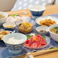 おうちごはん部/料理/献立/家庭料理 ある日の晩ごはんはお刺身定食的な献立で。…
