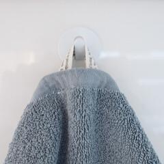 雑貨/キッチン雑貨/フック/タオル掛け/生活の知恵 キッチンの正面にタオルを掛けるフックを探…