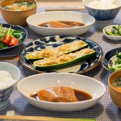 おうちごはん部/料理/献立/晩ごはん/家庭料理/夕食 ある日の晩ごはん ・赤魚の煮付け ・ズッ…(1枚目)