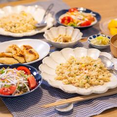 おうちごはん部/料理/献立/夕食 ある日の晩ごはん。 カニチャーハン(パル…