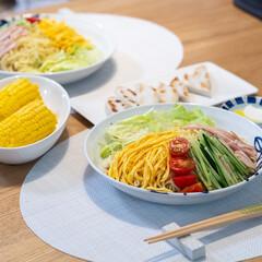 おうちごはん部/料理/献立/夕食/家庭料理 冷やし中華始めてます。 スーパーに行った…