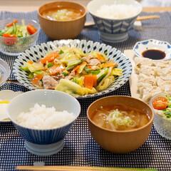 おうちごはん部/料理/献立/夕食 ある日の晩ごはん。 ・とろみ付き野菜炒め…(1枚目)