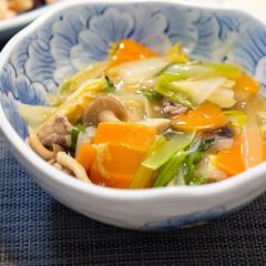 おうちごはん部/料理/献立/夕食/八宝菜 ある日のメインは八宝菜。 白菜・人参・し…