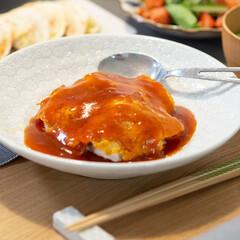 おうちごはん部/料理/献立/家庭料理/夕食 ある日の晩ごはんのメインは天津飯♪ テレ…